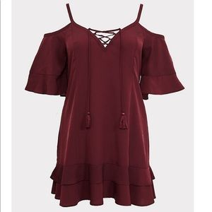 TORRID Burgundy cover-up dress, 2x (NWT)